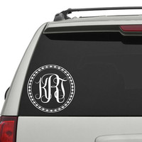 Car Decals Monogram Vinyl Sticker Decals Initial Letters Decal Decor Vinyl Sticker Window Truck Decal Stickers T46