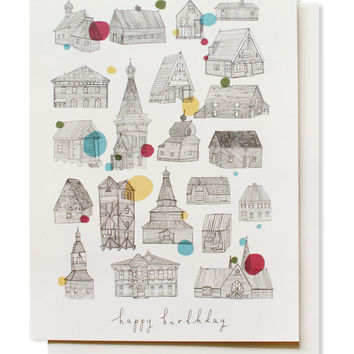 birthday houses card