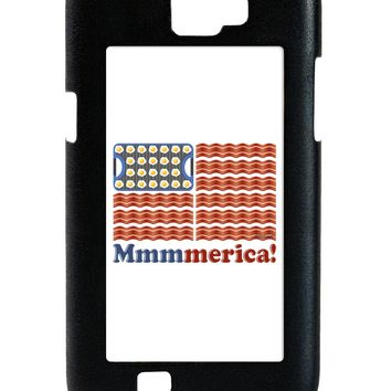 American Breakfast Flag - Bacon and Eggs - Mmmmerica Galaxy Note 2 Case  by TooLoud