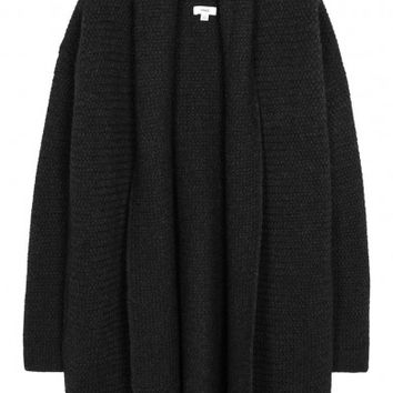 Vince Charcoal basketweave yak blend cardigan