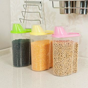 Kitchen Accessories Tool Food Grain Plastic Candy Storage Box Containers