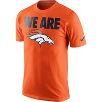 Mens Denver Broncos Nike Orange Team Verbiage T-Shirt