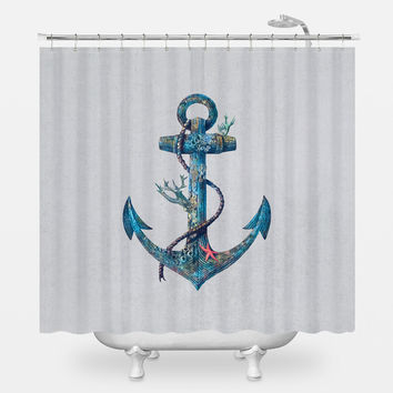 Lost at Sea Shower Curtain
