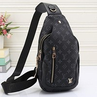 LV Classic Fashionable Women Leather Backpack Bookbag Daypack Satchel