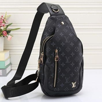 LV Louis Vuitton Women's Tide Brand Fashion High Quality Leather Backpack Shoulder Bag F
