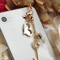 iPhone 5 dust plug  iphone 4  dust plug and charms Blackberry plug and charm- Multiple charms