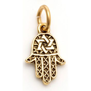 Hamsa Charm with Star