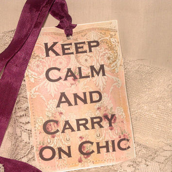 Paper Sachet Gift Tags Paris Chic Collection (PSGT002) Keep Calm and Carry on Chic ECS