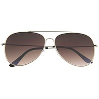 Large Modern Flat Front Metal Aviator Sunglasses A183