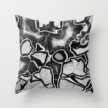 Cracked Throw Pillow by UMe Images