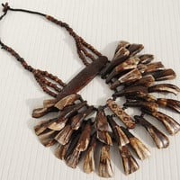 "Fabulous Vintage Naga ""Bone  and Teeth""Collection One of a Kind Tribal Ethnic Rare Old India Necklace"