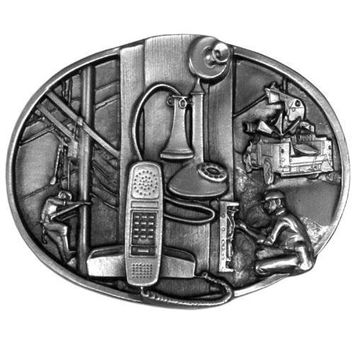 Sports Accessories - Telephone Worker Antiqued Belt Buckle