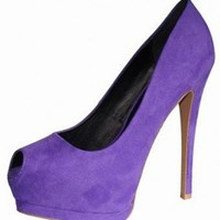 PURPLE SUEDE SEXY PUMP @ KiwiLook fashion