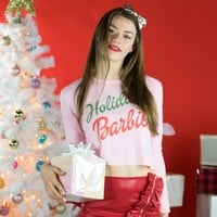 Holiday Barbie Cropped Thermal