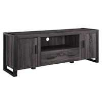 "60"" Charcoal Grey Wood TV Stand Console"