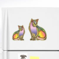 'Tropical and colorful drawing of a cat for catlovers' Sticker by Sinmigo