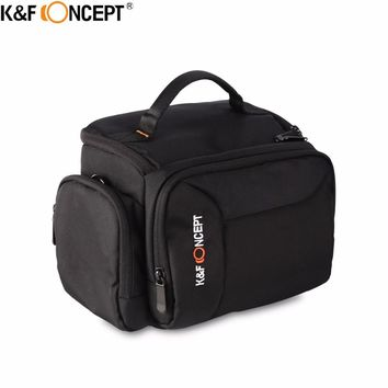 K&F CONCEPT DSLR Camera Shoulder Bag(L) High-quality Waterproof Camera Bag hold 1 Camera+2 Lenses+Flashlight+Small Items
