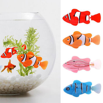 Lovely Swim Electronic Robofish Toy fish Robotic Pet For Fishing Tank Decorating