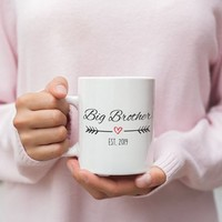 Big Brother Announcement Mug, Big Brother Est 2019, New Big Brother Gift, Pregnancy Reveal, Gift for Big Brother To Be, Big Brother Mug