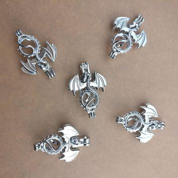 SHOWTRUE 2017 New design Flying Dragon Cage pendant Jewelry Making Beads Pendant Aromatherapy Essential Oil Diffuse Locket
