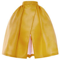 Pleated Hip Wrap Skirt by DELPOZO