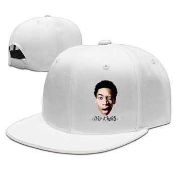 Wiz Khalifa DeviantArt Portrait Poster Cotton Unisex Adult Womens Fitted Hats Mens Hip-hop Caps
