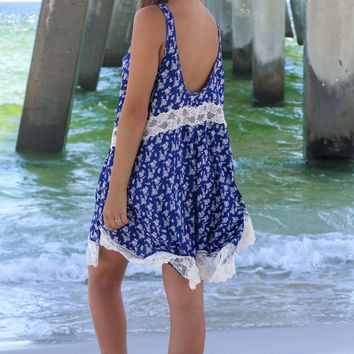Rosalie Bay Blue Sleeveless Dress
