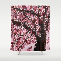 :: Pink Canopy :: Shower Curtain by :: GaleStorm Artworks ::
