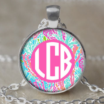 Monogram Lilly Pulitzer Inspired Necklace