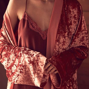 Out From Under Starlight Velvet Robe - Urban Outfitters