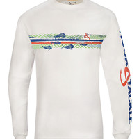 Men's Fish Currents L/S UV Fishing T-Shirt