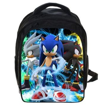 Super Mario party nes switch 13 Inch Anime Sonic  Backpack Students School Bags Boys Girls Daily Backpacks Children Bag Kids Best Gift Backpack AT_80_8