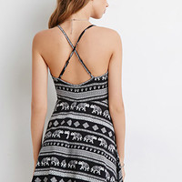 Elephant Print Cami Dress