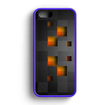 Minecraft Creeper Black iPhone 5 Case iPhone 5s Case iPhone 5c Case