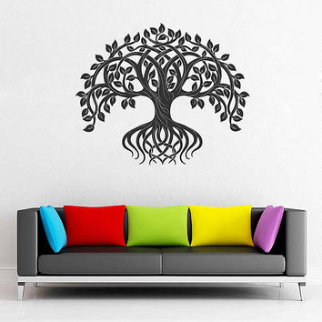 tree of Life wall decals Tree Decor Celtic wall decals for Living Room for Yoga Studio Decor kik3340
