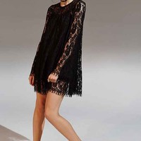 Kimchi Blue Long-Sleeve Lace Trapeze Dress-
