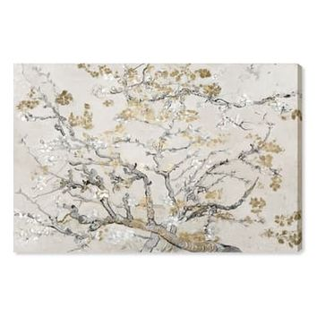 Oliver Gal Gold Blossoms Canvas Wall Art | Nordstrom