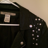 Faux Studded Leather Jacket (Small/Indie Brands)