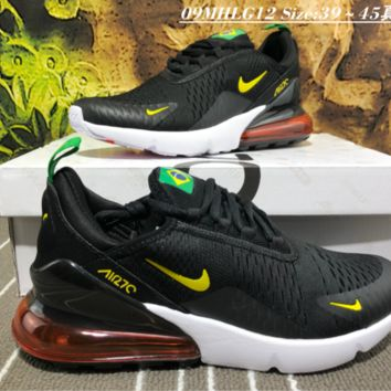 Nike Air Max 270 World Cup Breatheable Running Shoes Brazil