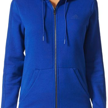 adidas Women's Essentials Cotton Fleece 3-Stripes Full Zip Hoodie