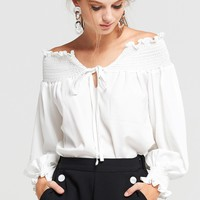 Marie Off Shoulder Blouse Discover the latest fashion trends online at storets.com