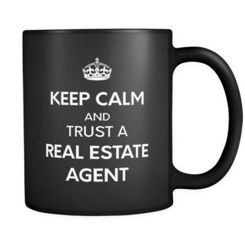 Real Estate Ask Me 11oz Black Mug