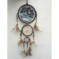 "20"" Long Northern Lights Wolves Dream Catcher"