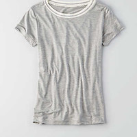 AEO Soft & Sexy Ringer T-Shirt, Heather Gray