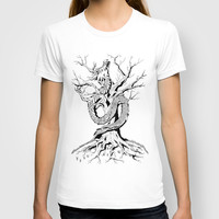Dragon and the Tree T-shirt by MontesMora