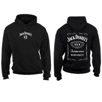 Jack Daniels Men's Daniel's Logo Hooded Sweatshirt Black XX-Large