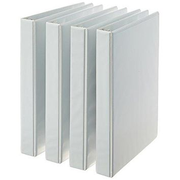 UpCubeElements™ 3-Ring Binder, 1 Inch - 4-Pack (White)