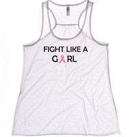 Breast Cancer Tank Top - White Tank - Tank Top - Workout Tank