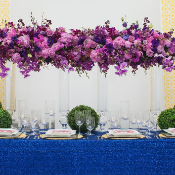 Sequin Tablecloth Royal Blue