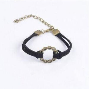 New hot sale Fashion Vintage bracelets Various styles leather Double multilayer black bracelets for women factory price